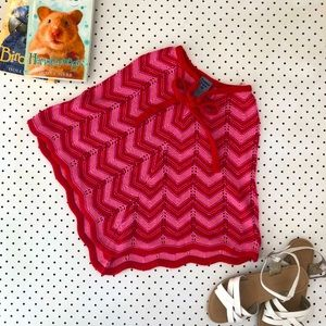 Girls size 6 PUMPKIN PATCH Knitted pink poncho